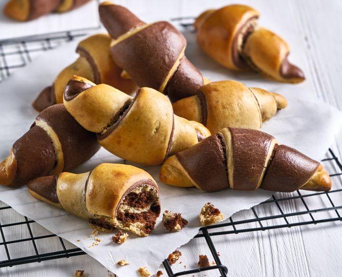 Rożki czekoladowo-waniliowe<